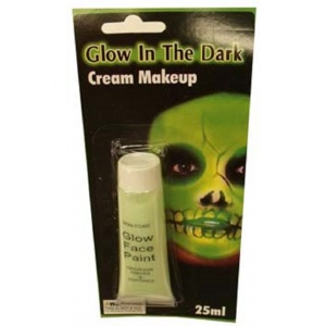 Glow in the Dark Face Paint Cream Make Up - 25ml - Halloween Costume Party Supplies